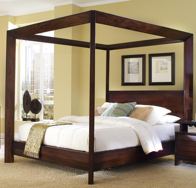 Ligna Furniture Canali Contemporary California King Poster Bed Dream Home Interiors Canopy Bed