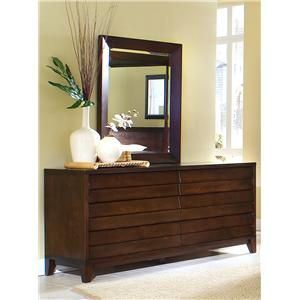 Canali Contemporary Dresser & Mirror Set by Ligna Furniture