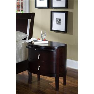 Ligna Furniture Port 2 Drawer Oval Night Stand