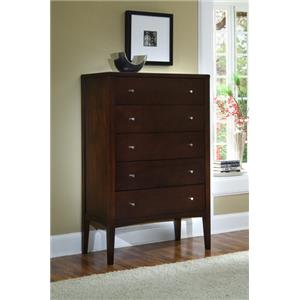 Ligna Furniture Port 5 Drawer High Chest