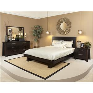 Ligna Furniture Zen Queen Bedroom Group