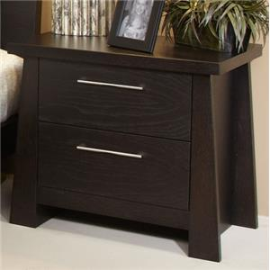 Zen Nightstand with Two Drawers by Ligna Furniture