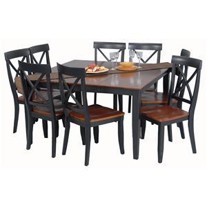 Superior Ligo Products Contemporary 9 Piece Casual Dining Set