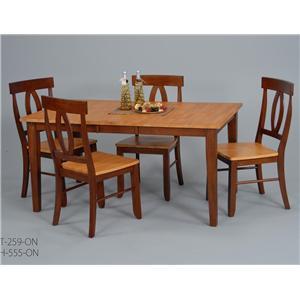 Ligo Products Contemporary 5 Pc. Table U0026 Chair Set