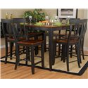 Ligo Products Contemporary Butterfly Counter Table - Shown with Counter Chairs