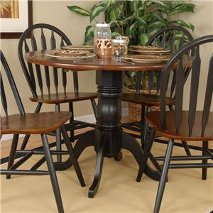 Exceptional Ligo Products Country Classics Empire Drop Leaf Round Table