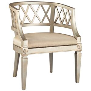 Lillian August Custom Upholstery Exposed Wood Brunell Chair