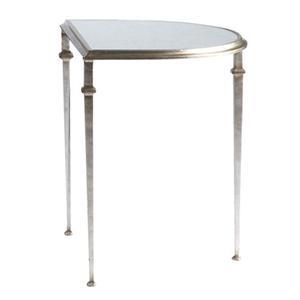 Lillian August Wood Tria Demilune Cocktail Table / Demilune