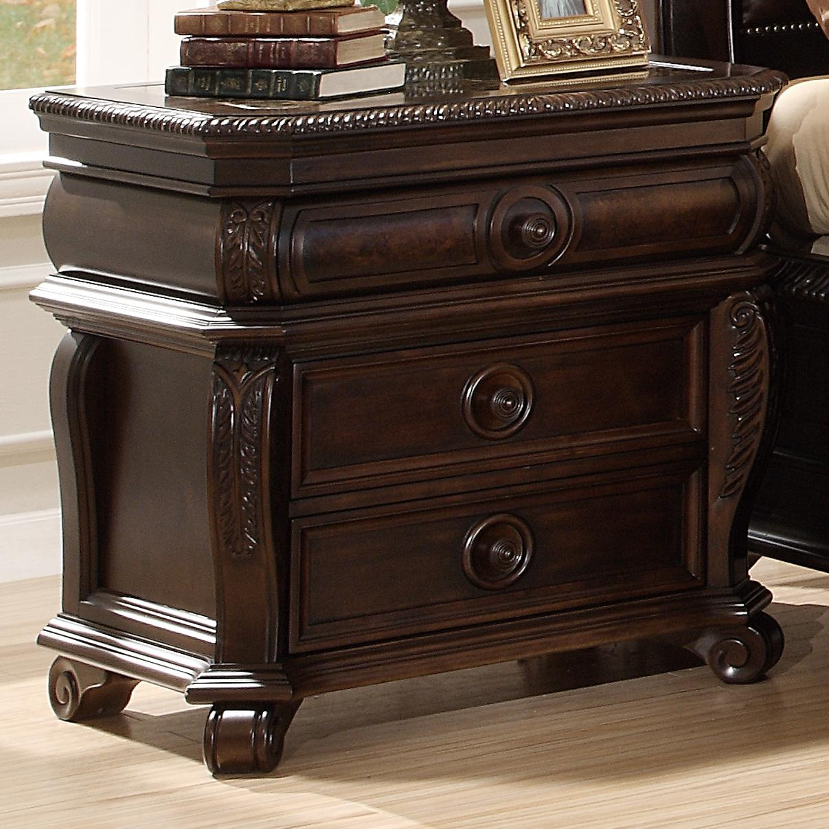 B2160 Night Stand W 3 Drawers Miskelly Furniture Night Stand