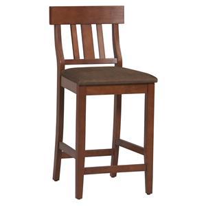 "Linon Bar and Counter Stools Triena 30"" Slat Back Pub Chair"