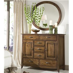 Dressing Chest with Oval Mirror
