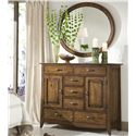 Linwood Furniture Baisley Park Dressing Chest with Oval Mirror - Item Number: 200-329+206