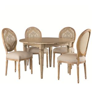 Round Table and Foster Side Chair Set