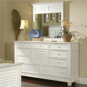 Villages of Gulf Breeze Triple Drawer Dresser with Landscape Mirror by Linwood Furniture