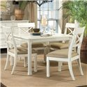 Linwood Furniture Villages of Gulf Breeze 5 Piece Dining Table Set - Item Number: 100-870+4x880
