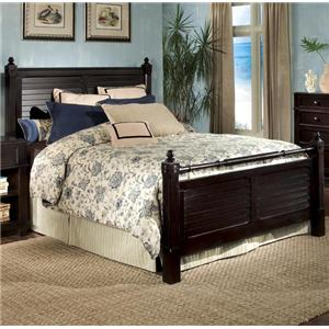 Villages of Gulf Breeze King Poster Headboard and Footboard  Bed by Linwood Furniture