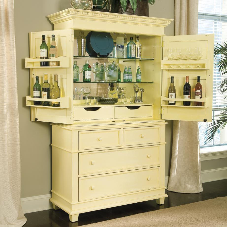 Linwood Furniture Villages Of Gulf Breeze Single Dresser With Bar Hutch    AHFA   Occasional Cabinet Dealer Locator