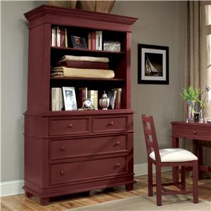 Linwood Furniture Villages of Gulf Breeze Single Dresser with Open Hutch