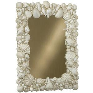 Vertical Sandstone Shell Mirror