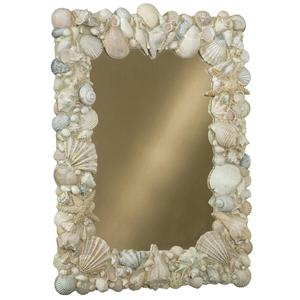 Vertical Hand Painted Shell Mirror