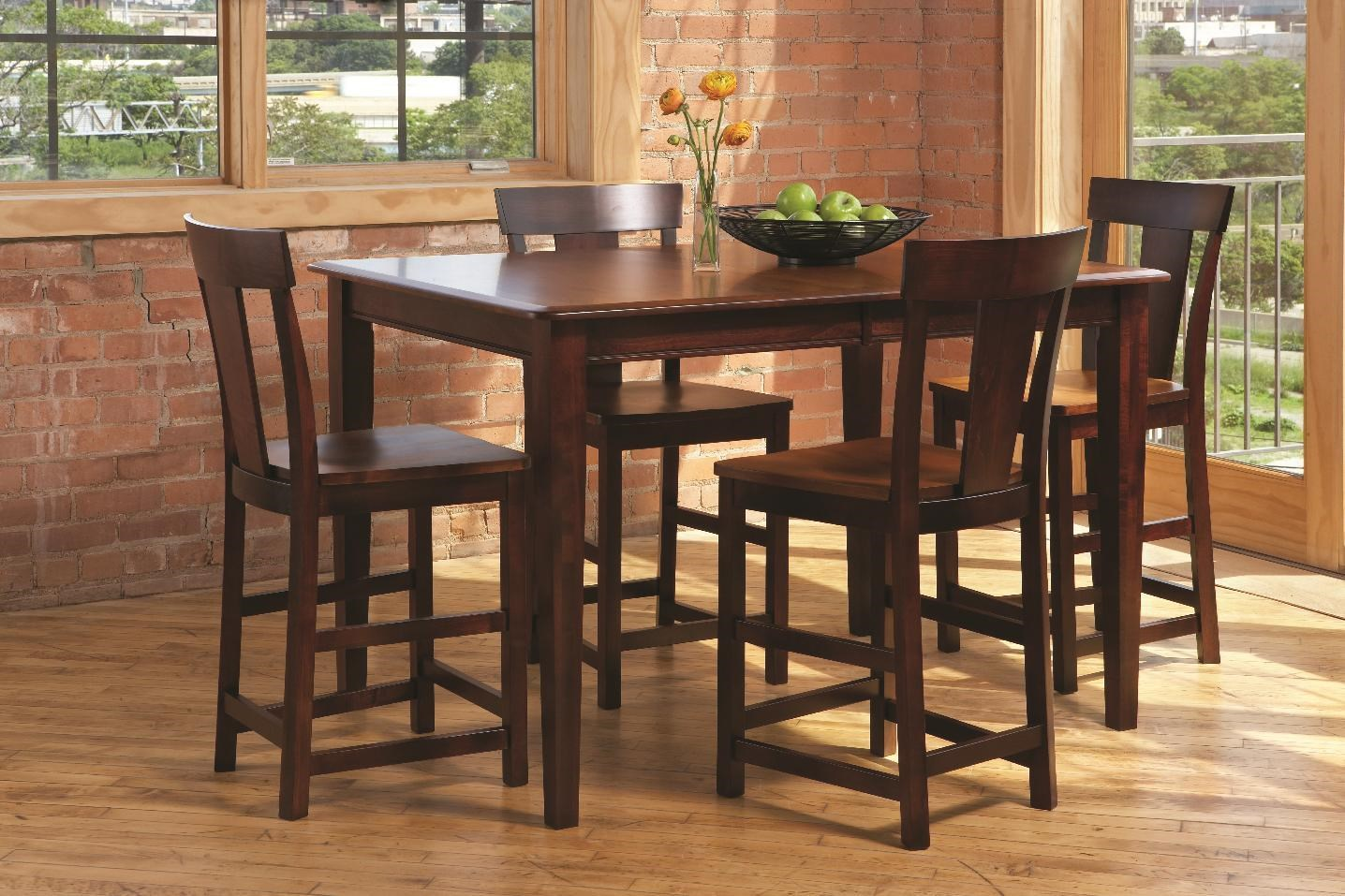 L.J. Gascho Furniture Anniversary II Anniversary 5-Piece Solid Wood Dining Set - Item Number: 310841532