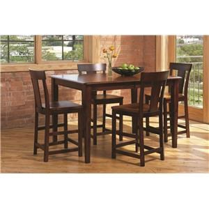 L.J. Gascho Furniture Anniversary II Anniversary 5-Piece Solid Wood Dining Set