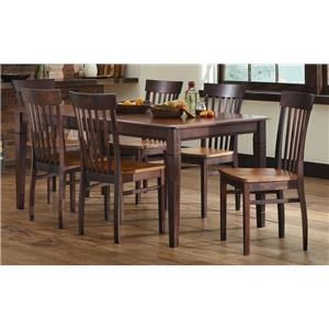 L.J. Gascho Furniture Anniversary II Anniversary 5-Piece Solid Wood Dining Set