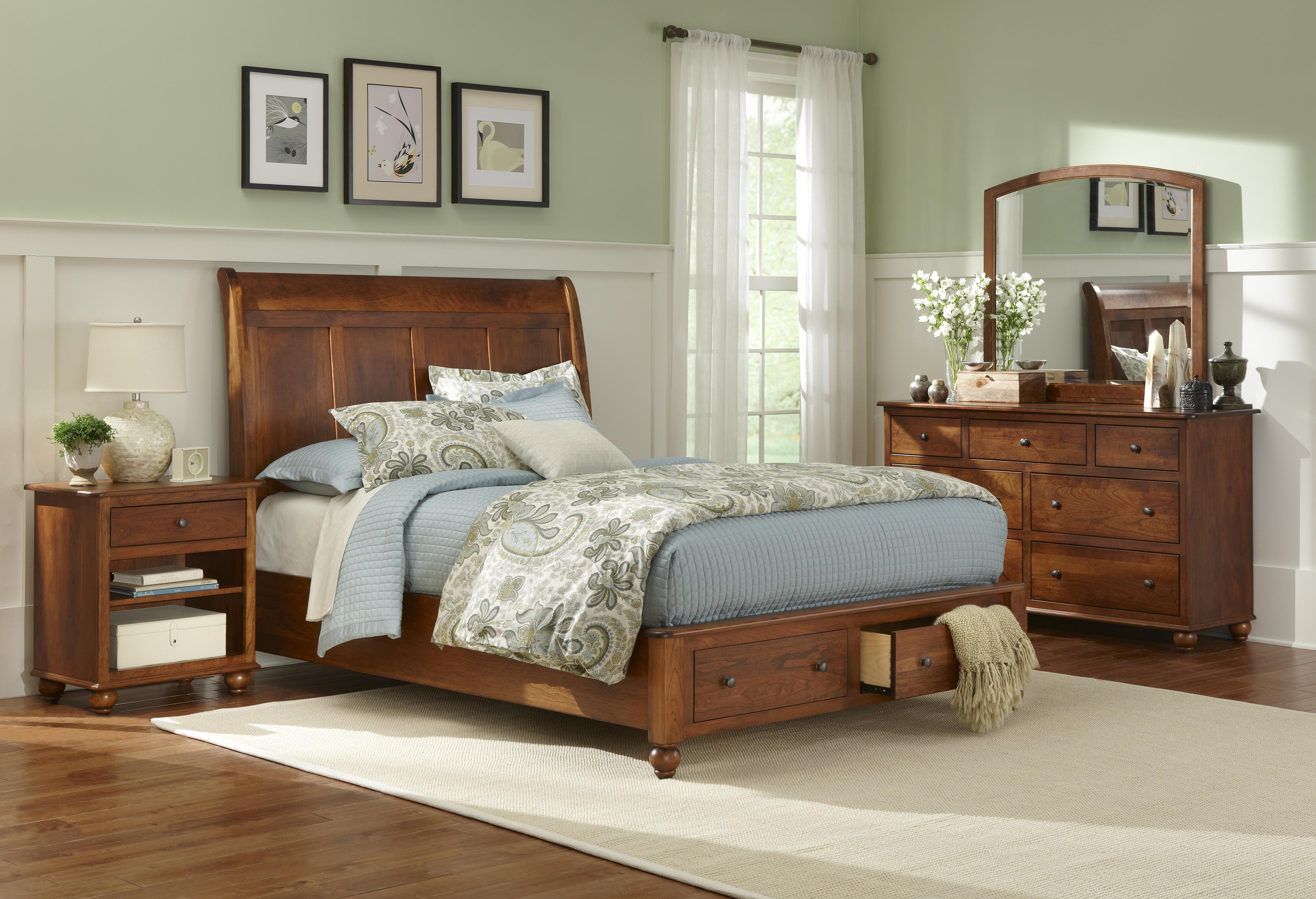L.J. Gascho Furniture Covington Cairnbrook Queen Storage Bed - Item Number: 2QHB/QSTFB/QRS