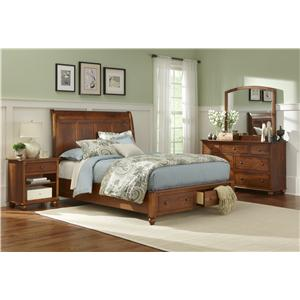 L.J. Gascho Furniture Covington Cairnbrook Queen Storage Bed