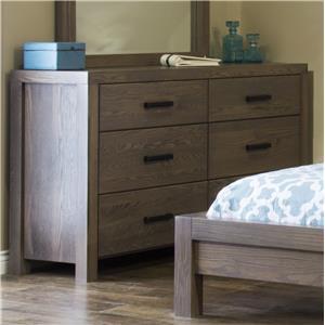 L.J. Gascho Furniture Canyon Lake 6 Drawer Dresser