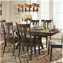 American Amish Covina Dining Table - Item Number: 4058B+4058GT