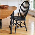 American Amish Solid Wood Dining Sets Bow Spindle Side Chair - Item Number: 36S