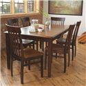 L.J. Gascho Furniture Solid Wood Dining Sets 7 Piece Dining Set