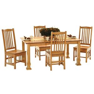 American Amish Grand Mission Five Piece Dining Room Set