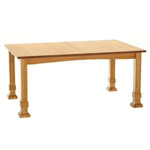 American Amish Grand Mission White Oak Dining Table