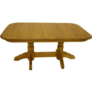 American Amish Heirloom Solid Oak Dining Table