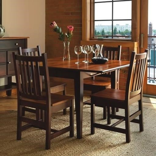 Saber Solid Maple 5 Piece Dining Set