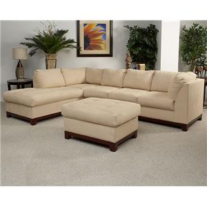Lloyd's of Chatham 280 Transitional 2-Piece Sectional with Wood Base