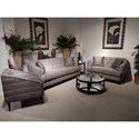 Lloyd's of Chatham 563 Transitional Loveseat with Button Tufting