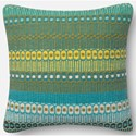 "Reeds Rugs Accent Pillows 18"" X 18"" Down Pillow - Item Number: DSETURO01DHABPIL1"
