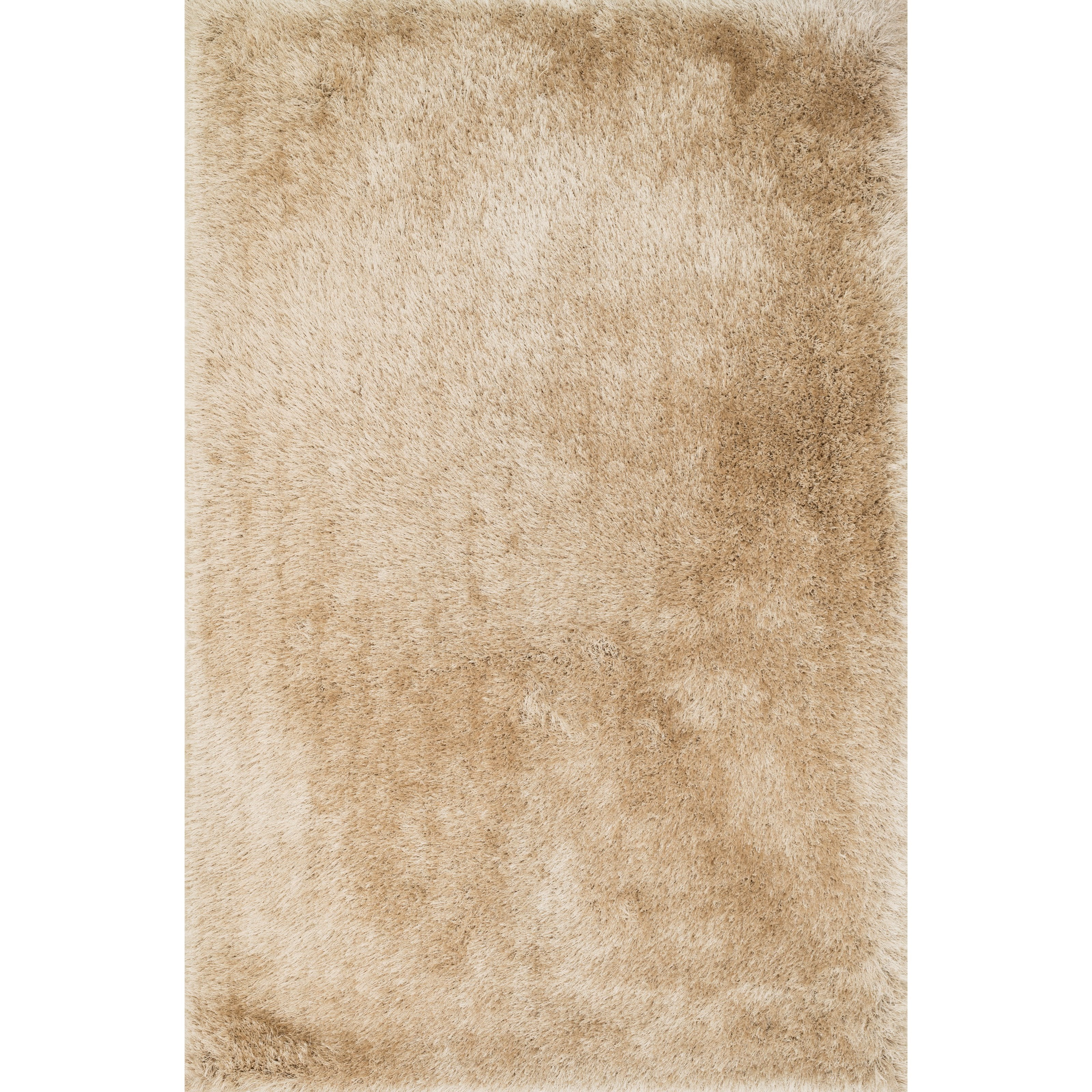 """Allure Shag 8'0"""" x 8'0"""" Round Beige Rug by Loloi Rugs at Virginia Furniture Market"""