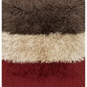 "Reeds Rugs Allure Shag 1'6"" x 1'6""  Color Block / 03 Rug - Item Number: ALLUAQ-01CK03160S"