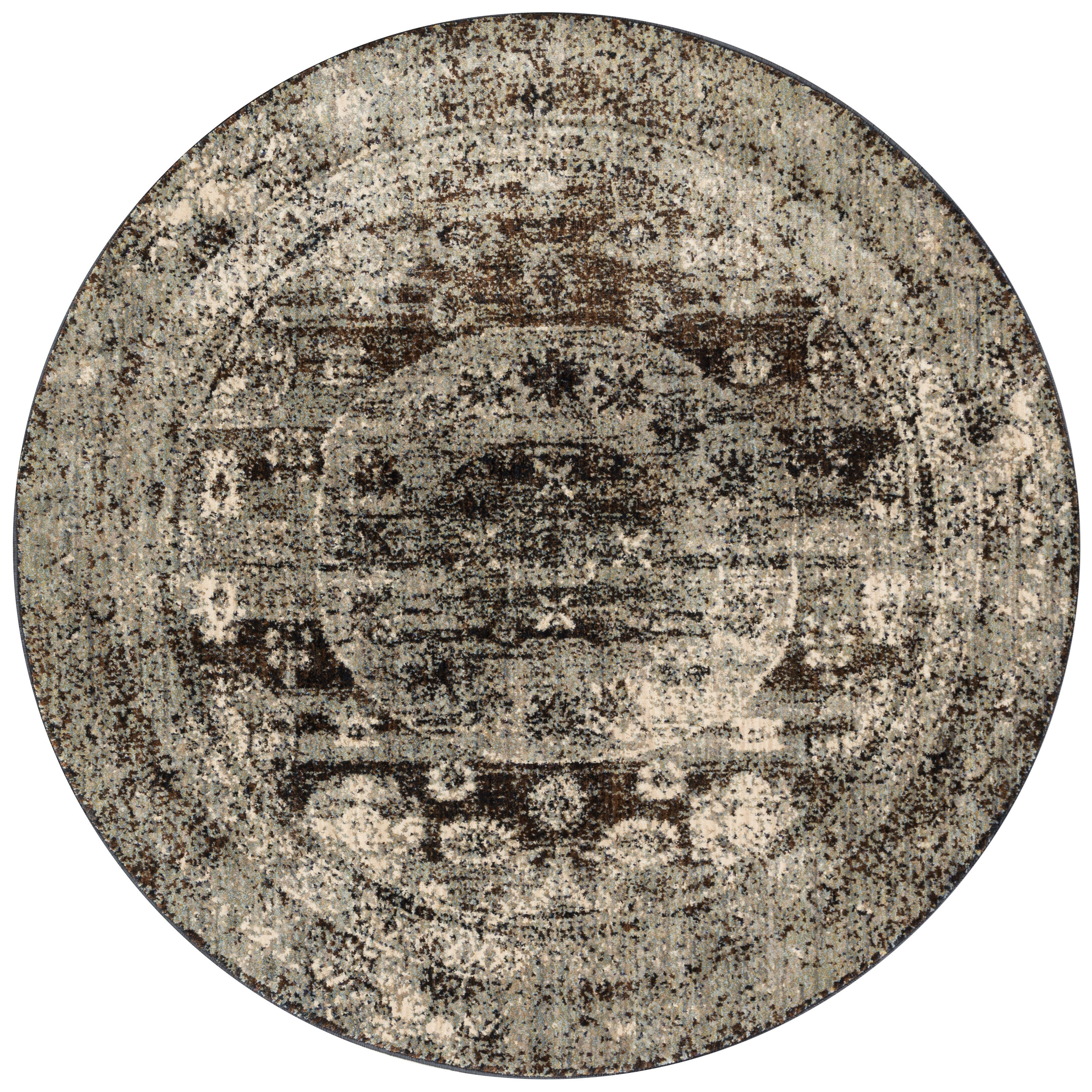 "Anastasia 9'-6"" X 9'-6"" Round Area Rug by Loloi Rugs at Virginia Furniture Market"