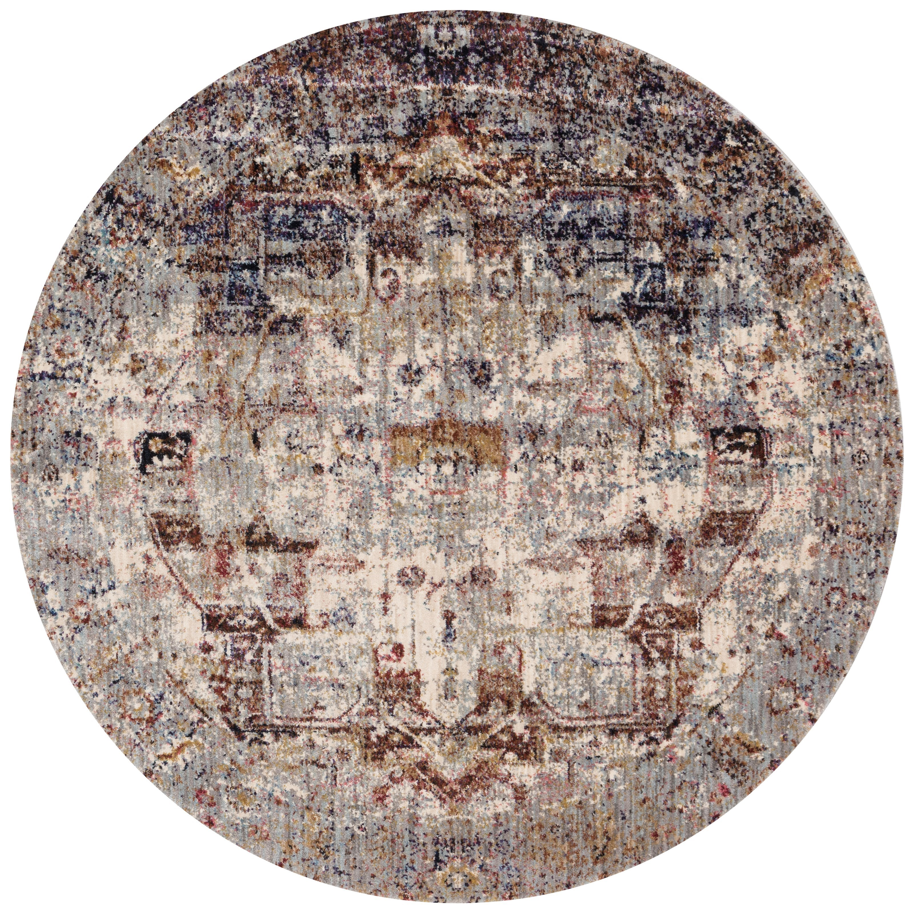 "Anastasia 5'-3"" X 5'-3"" Round Area Rug by Loloi Rugs at Virginia Furniture Market"