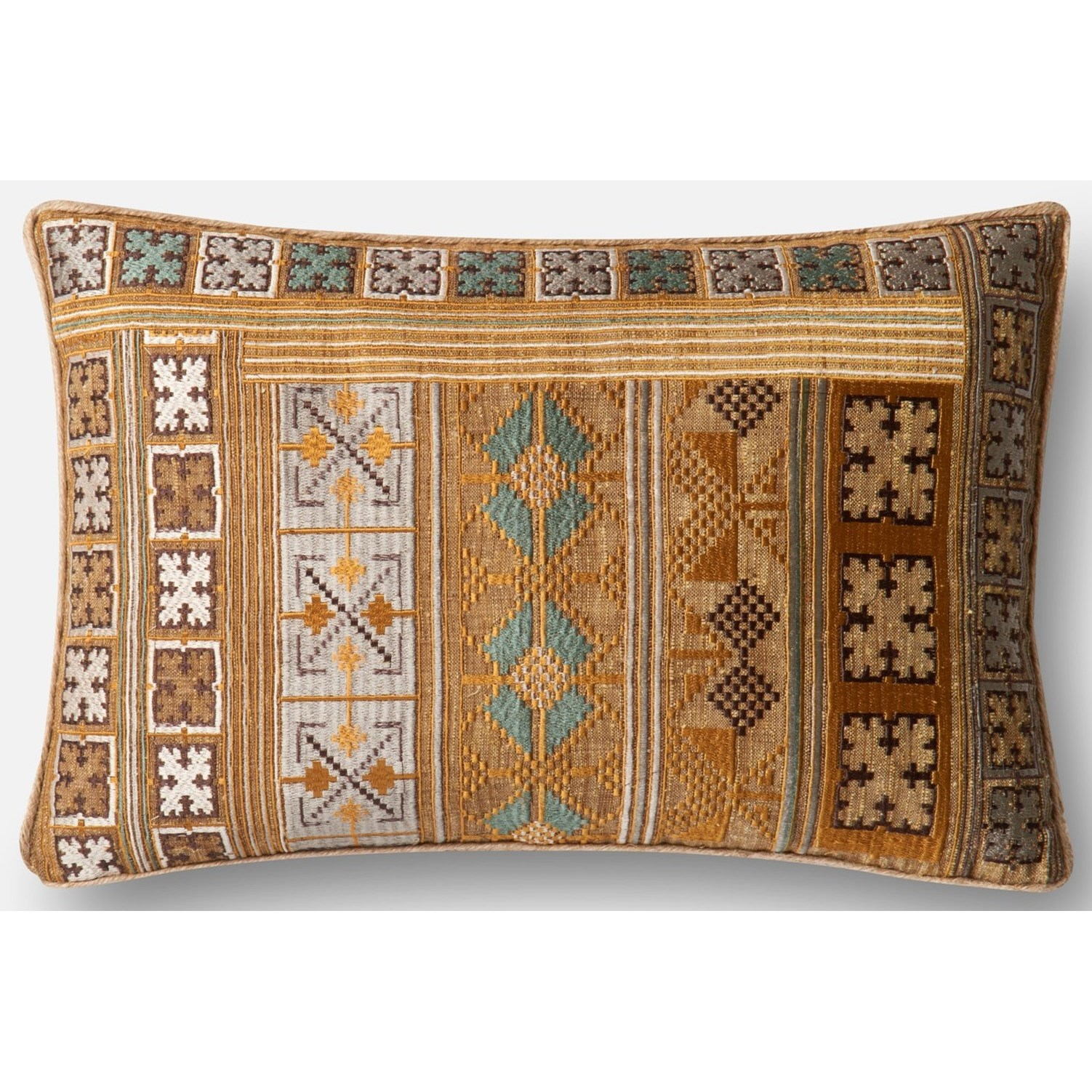 "Applique 13"" X 21"" Down Pillow by Loloi Rugs at Sprintz Furniture"