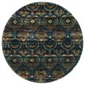 """Reeds Rugs Aria 3'-0"""" x 3'-0"""" Round Area Rug - Item Number: ARIAHAR01GYBB300R"""