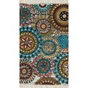 "Reeds Rugs Aria 3'-6"" x 5'-6"" Area Rug - Item Number: ARIAHAR12IVML3656"