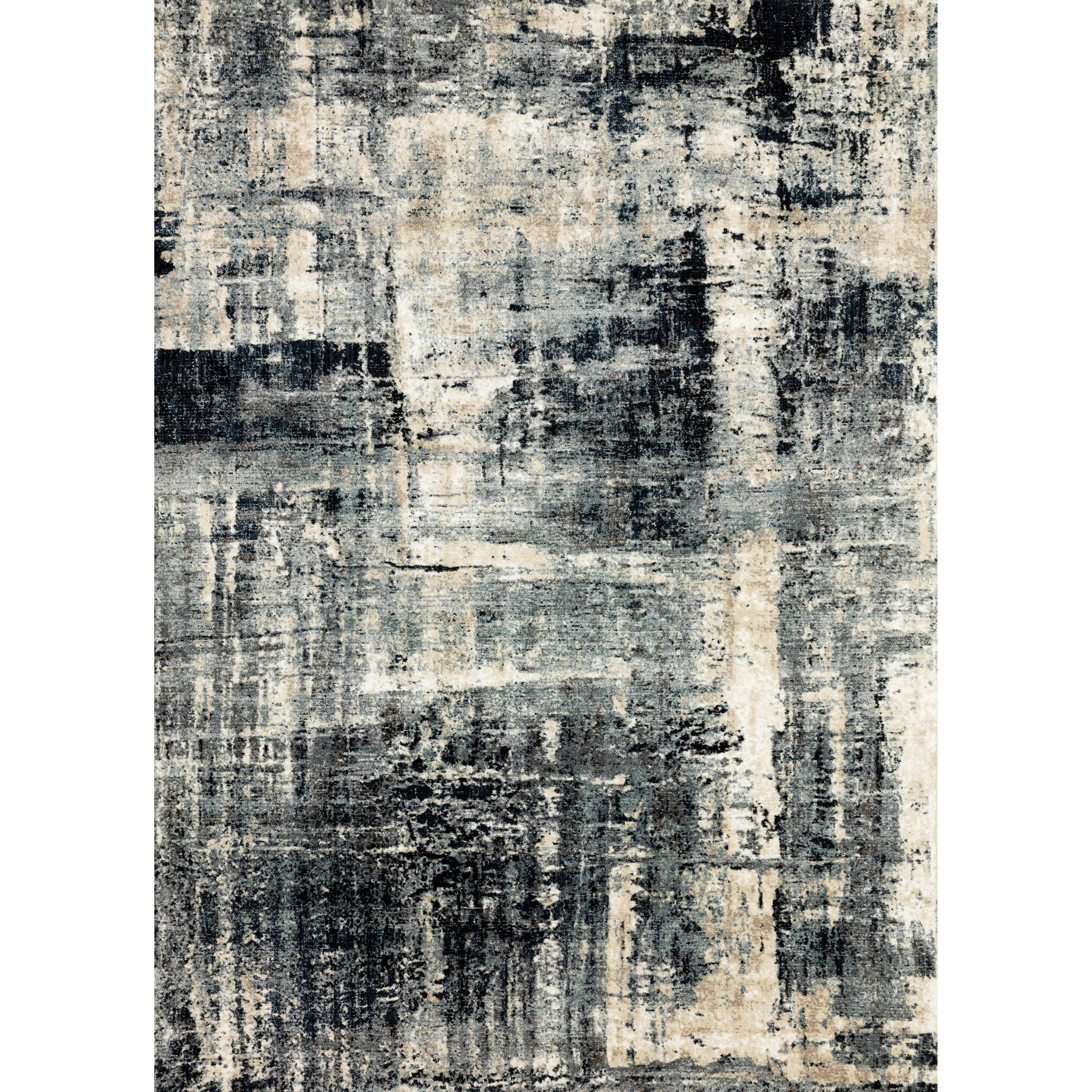 """Augustus 5'3"""" x 7'8"""" Navy / Dove Rug by Loloi Rugs at Virginia Furniture Market"""