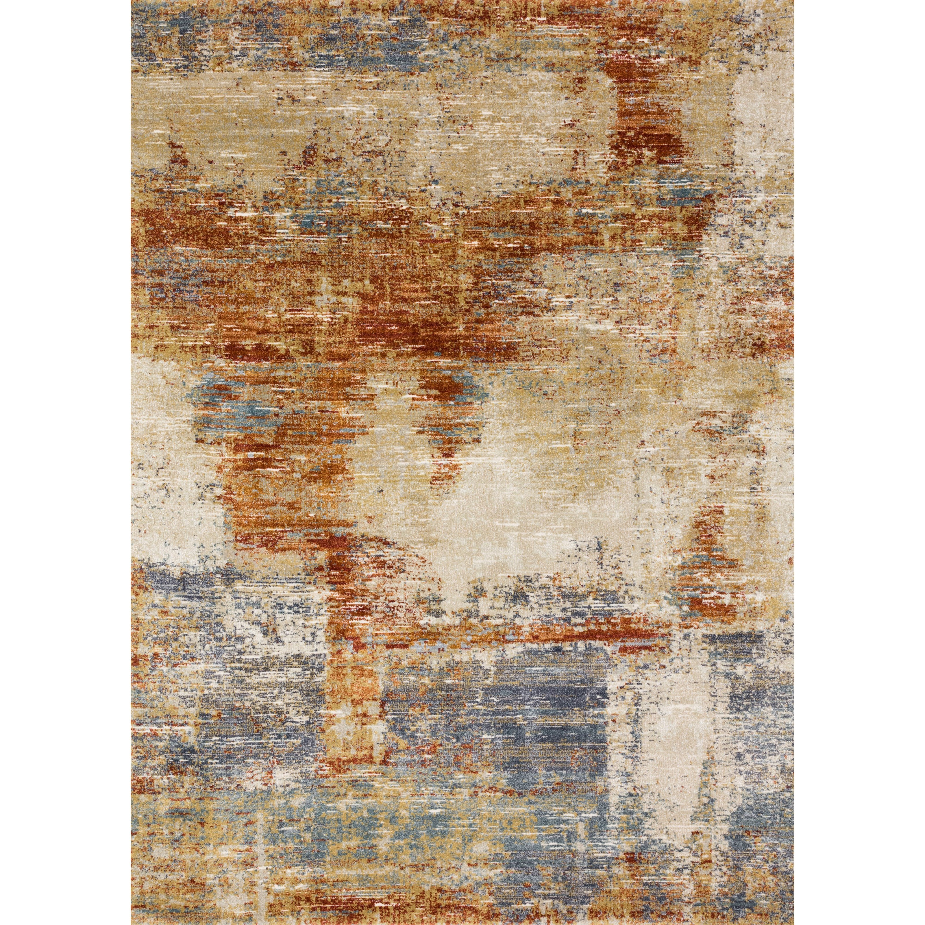 "Augustus 5'3"" x 7'8"" Terracotta Rug by Loloi Rugs at Virginia Furniture Market"