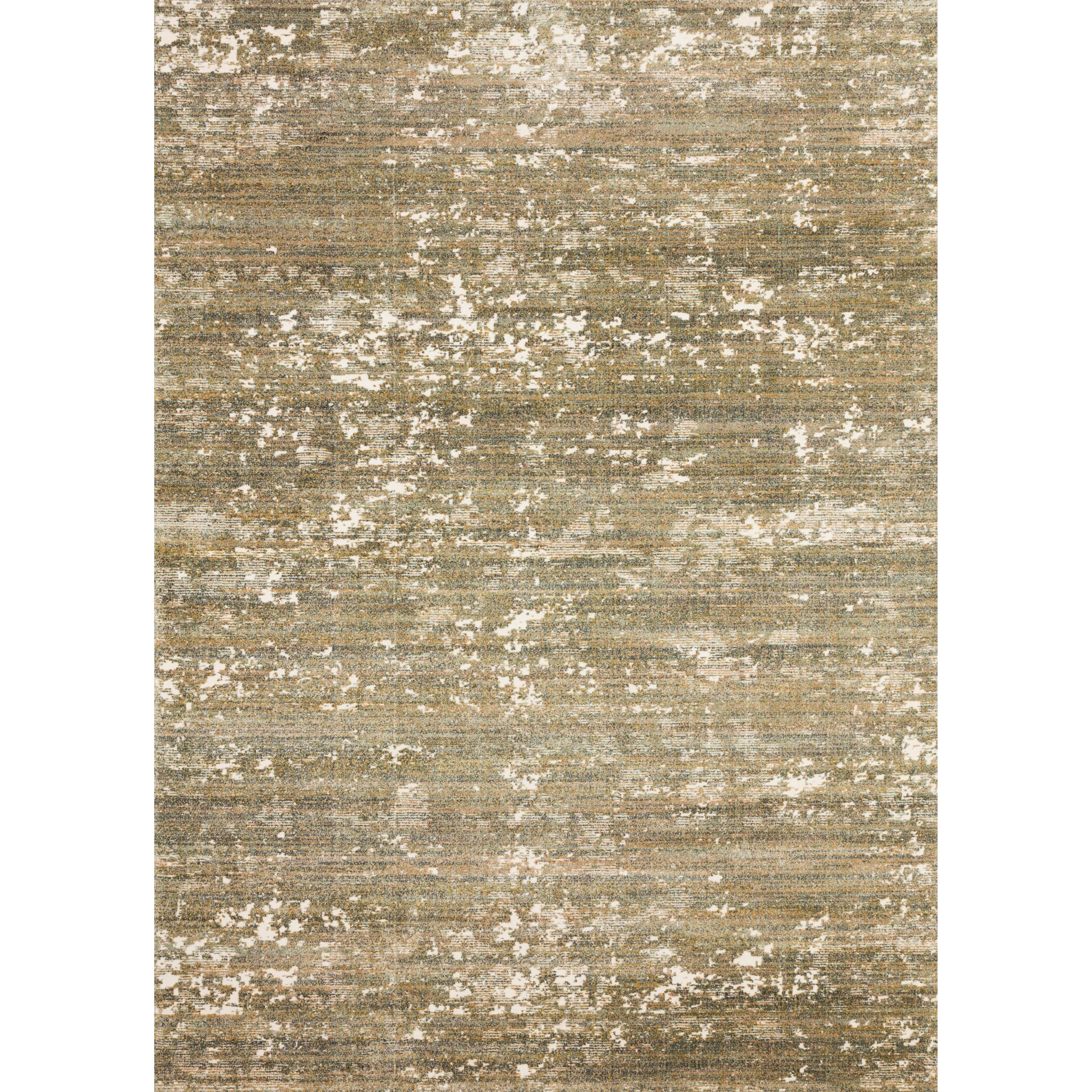 """Augustus 3'7"""" x 5'7"""" Moss / Spice Rug by Loloi Rugs at Virginia Furniture Market"""